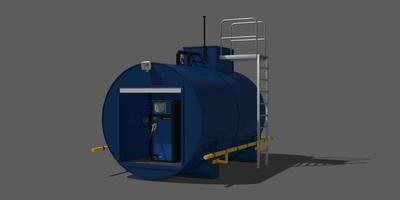 station service portative mobile gasoil fuel stockage carburant mobipack erla technologies -- Cliquez pour voir l'image en entier